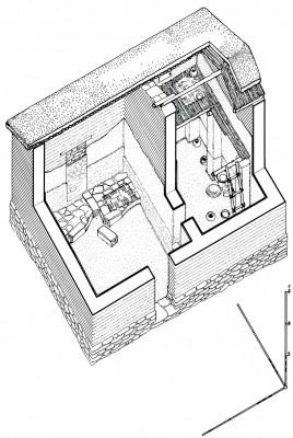 Σχέδιαστική αναπαράσταση της Οικίας του Κεραμέα.