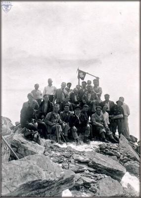 Στο Μύτικα - CAF-CAS-Alpine Club & Έλληνες 12-9-1927 Φωτ. Fred. Boissonnas