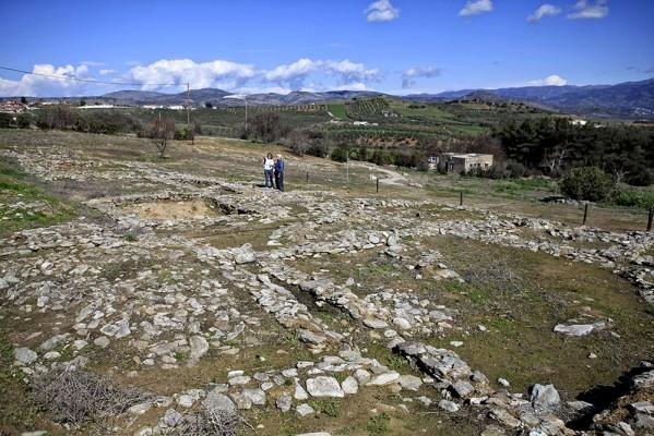 Άποψη από την επίσκεψη στο δυτικό τμήμα του επισκέψιμου χώρου, το λεγόμενο Σέσκλο Β.