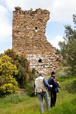 Ο πρώτος πύργος του Κάστρου  του Ποταμού από τα νότια.