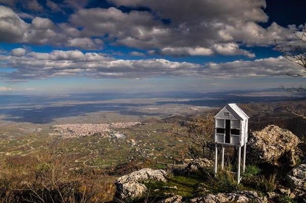 Κάτοψη της Νάουσας από τα ψηλώματα του βουνού.