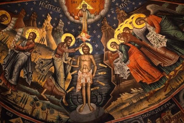 Τοιχογραφία στο Μοναστήρι Αγίας Τριάδας