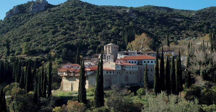 Στη Βυζαντινή Μονή του Τιμίου Προδρόμου