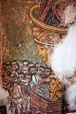Τοιχογραφία απο το εσωτερικό της Παναγίας Κουβατσού.