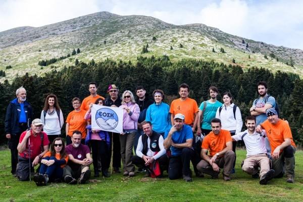 Με την ομάδα του Ε.Ο.Σ Καρδίτσας, στο λιβαδοτόπι του Προφητηλία, στα 1.465μ.