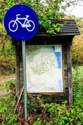 Η αρχή του ποδηλατόδρομου και αφετηρία του Δάσους.