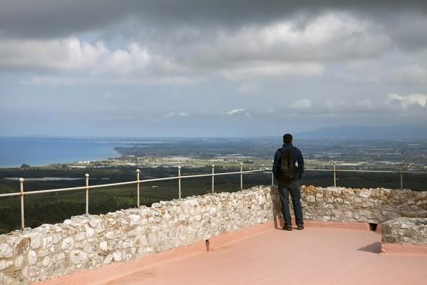 Η θέα απο την ταράτσα του κάστρου