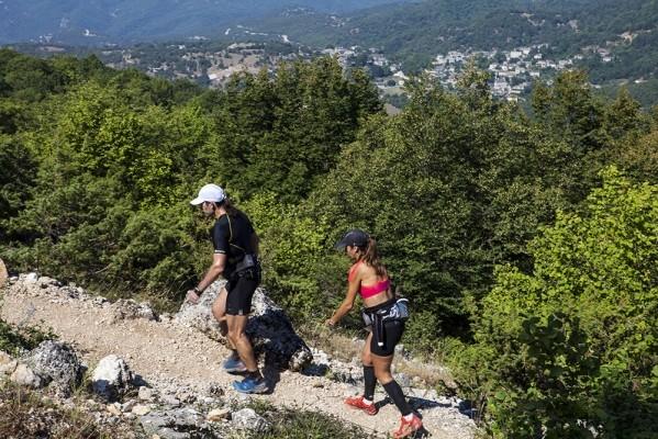 Αθλητές του ορεινού αγώνα Zagori Mountain Running