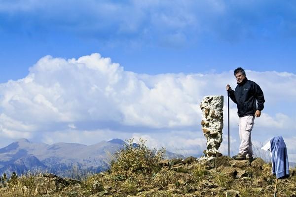 Στην κορυφή του Φλάμπουρου.