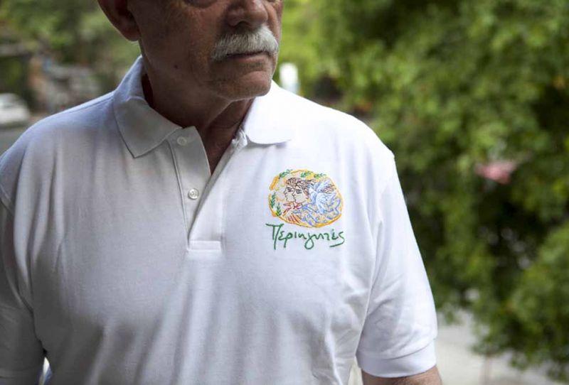 Αντρικό Μπλουζάκι Polo-Λευκό