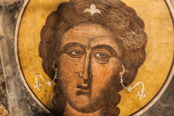 Άγιος Μερκούριος σε τοιχογραφία του ομώνυμου ναού