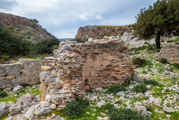 Κατάλοιπα εγκατάστασης της εποχής της Ρωμαιοκρατίας.