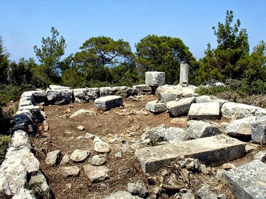 Ο ναός της ακρόπολης.
