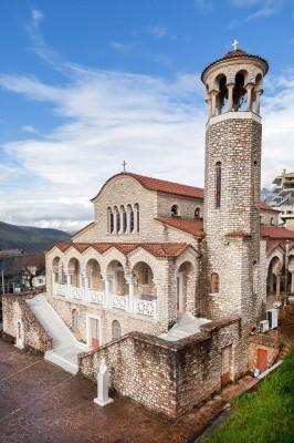 Ο πέτρινος ναός του Αγίου Δονάτου, πλέον και ο Μητροπολιτικός της Παραμυθιάς