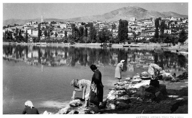 Μπουγάδα στην λίμνη οπου καθρεφτίζεται το Ντολτσό
