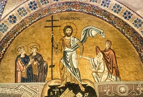 Η Ανάστασις. Ψηφιδωτό 11ου αιώνα