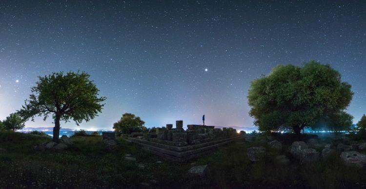 Αστροφωτογραφίζοντας τον Ναό του Δία